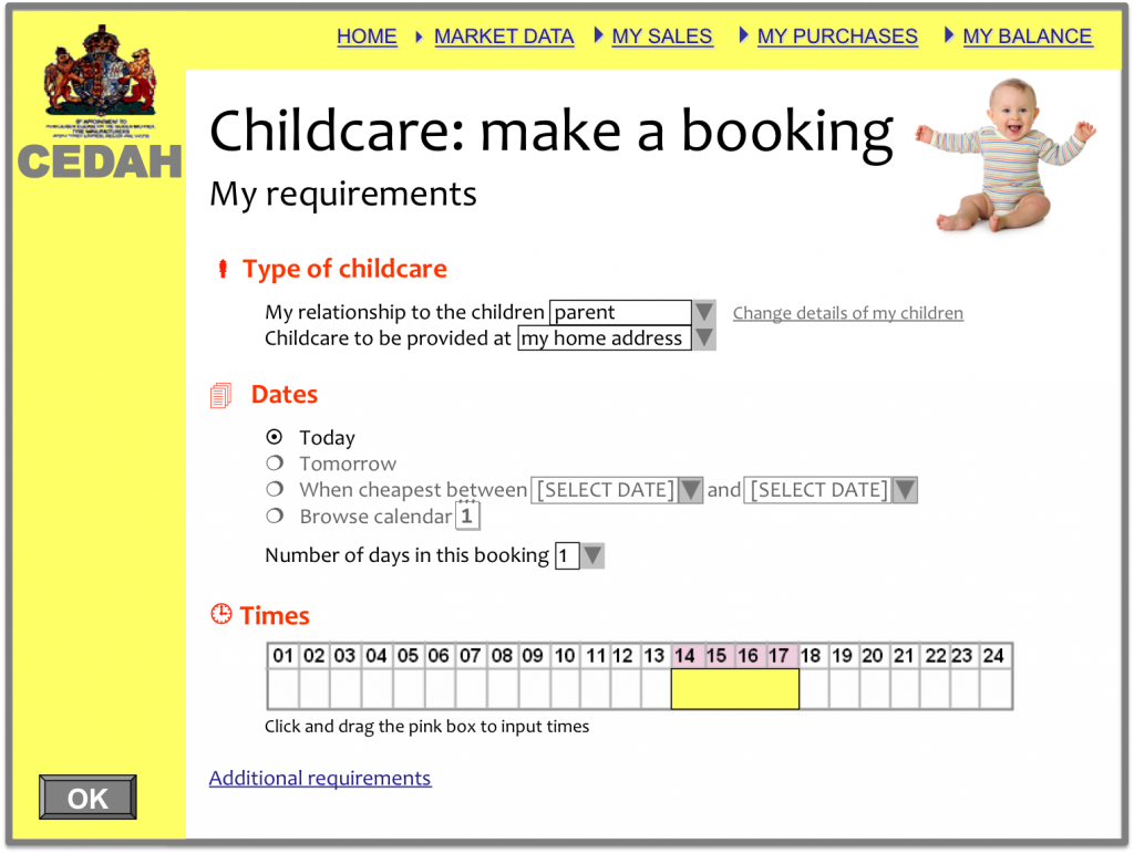 CEDAH - Childcare booking
