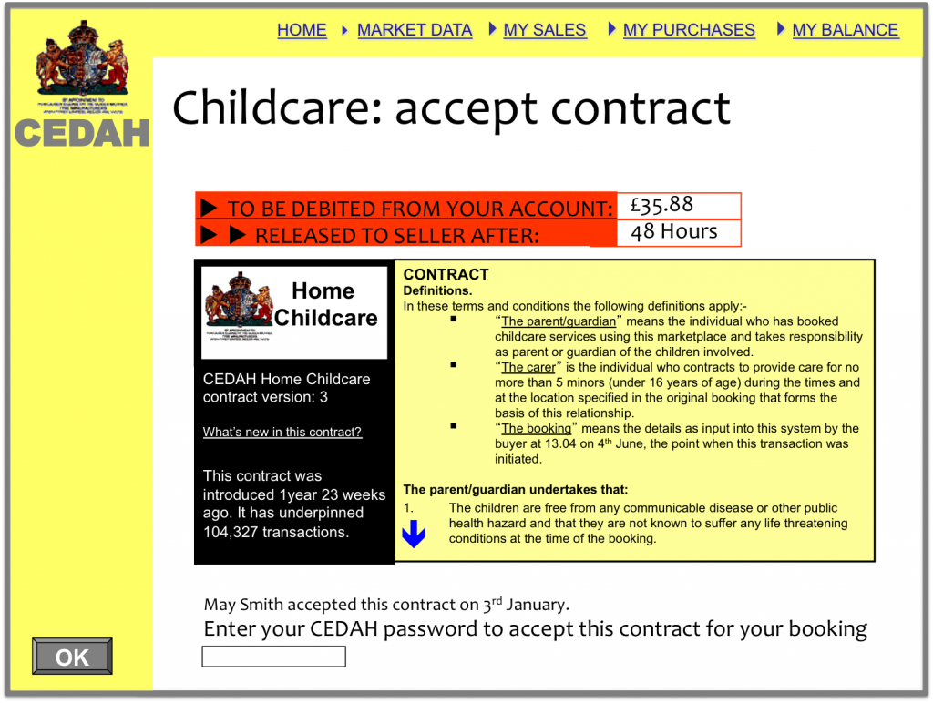 CEDAH - Childcare contract
